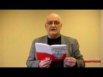Artykuł 205 czyta Jacek Rakowiecki
