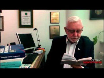 Artykuł 125 czyta prof. Jerzy Stępień